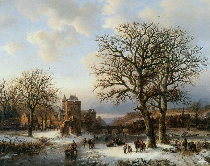 B.C. Koekkoek, Winterlandschap