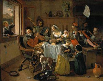 Jan Havickszoon Steen, Het vrolijke huisgezin, 1668