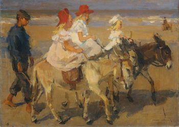 Isaac Lazarus Israëls, Ezeltje rijden op het strand, Circa 1898