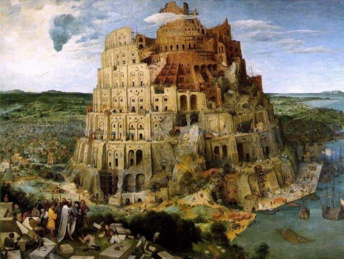 Pieter Bruegel de Oude, De toren van Babel, ca 1565