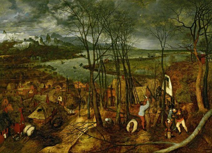 Pieter Bruegel de Oude - De sombere dag (vroege voorjaar), 1565