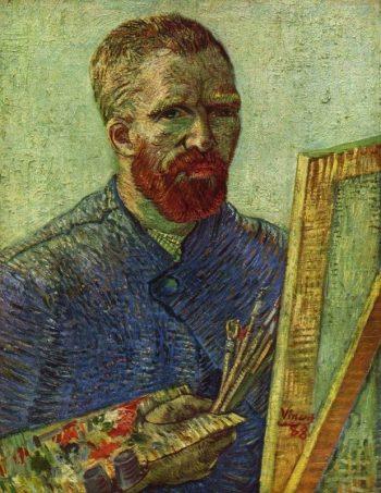 Vincent van Gogh, Zelfportret met schildersezel, 1888