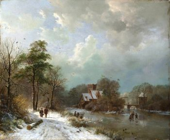 B.C. Koekkoek, Winterlandschap 3