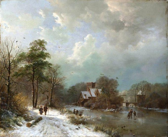B.C. Koekkoek, Winterlandschap 3
