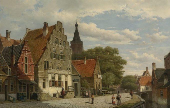 Willem Koekkoek, Kinderen en reizigers langs het kanaal, 1839-1895