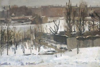 George Hendrik Breitner, Het Oosterpark in Amsterdam in de sneeuw, 1892