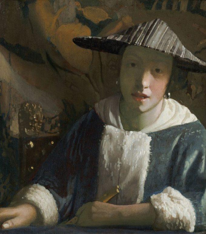 Johannes Vermeer, Meisje met de fluit, 1665-1670