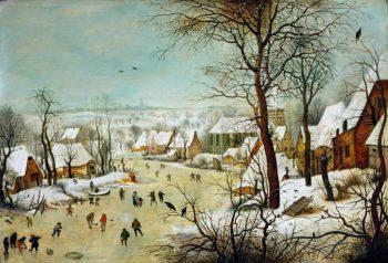 Bruegel, Winterlandschap met schaatsers en vogelval
