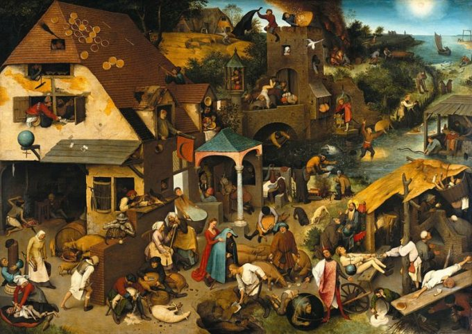 Pieter Bruegel de Oude, Nederlandse Spreekwoorden, 1559