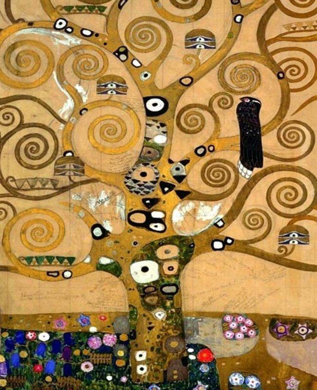 Gustav Klimt, De levensboom (middengedeelte)