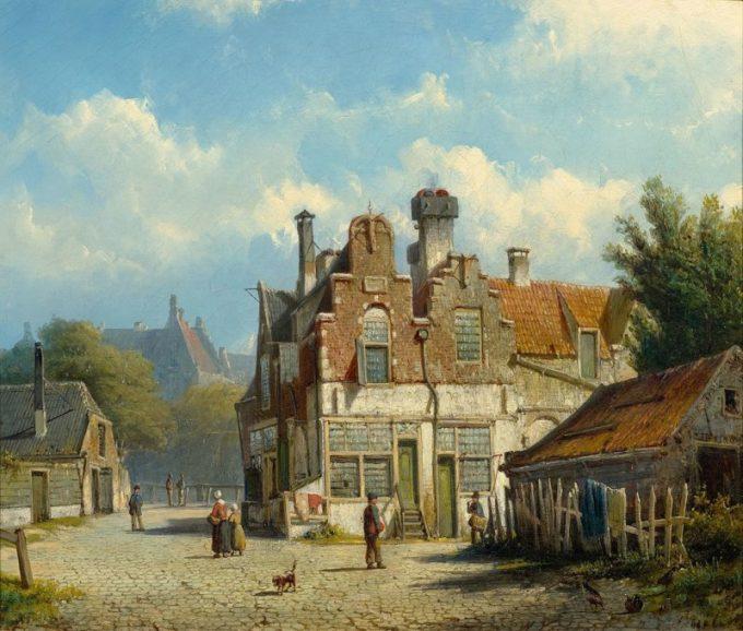 Willem Koekkoek, Stadsgezicht, 1839-1895