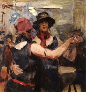 Isaac Israëls, Dansende vrouwen in een Amsterdams café, 1926