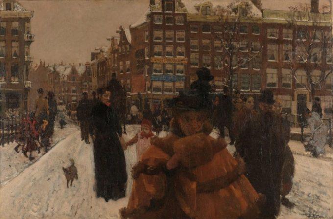 George Hendrik Breitner, De Singelbrug bij de Paleisstraat in Amsterdam, 1896