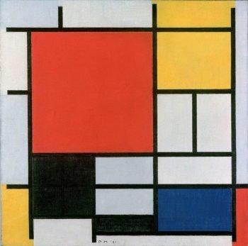 Piet Mondriaan, Compositie met rood, geel, blauw en zwart, 1927