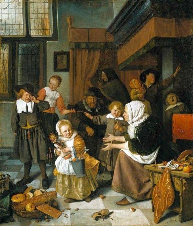Jan Havickszoon Steen, Het Sint-Nicolaasfeest, 1665 - 1668