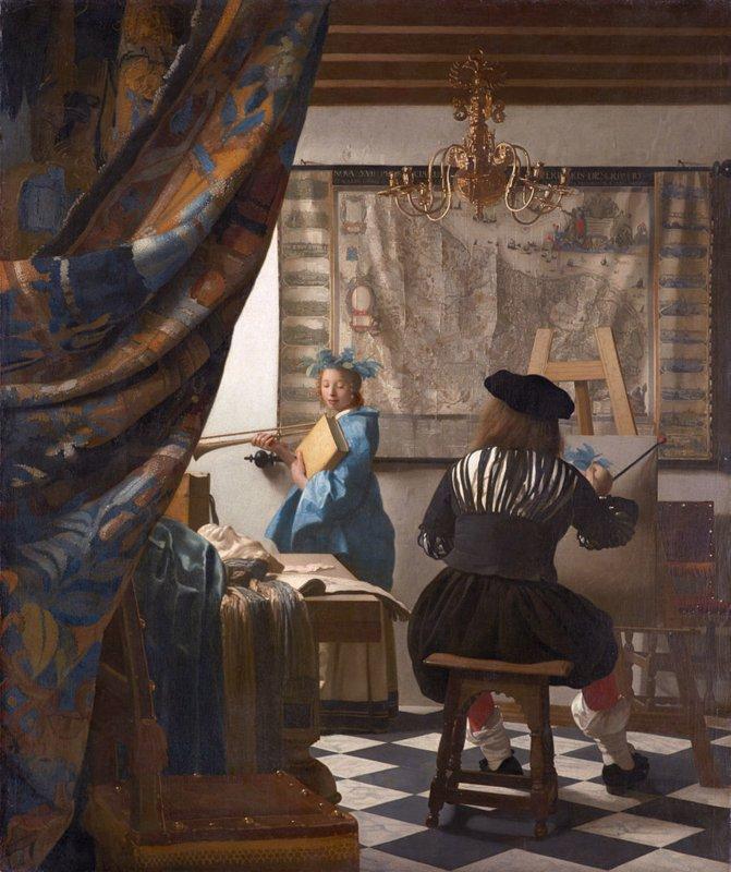 Johannes Vermeer, De schilderkunst (Allegorie op de schilderkunst), 1667