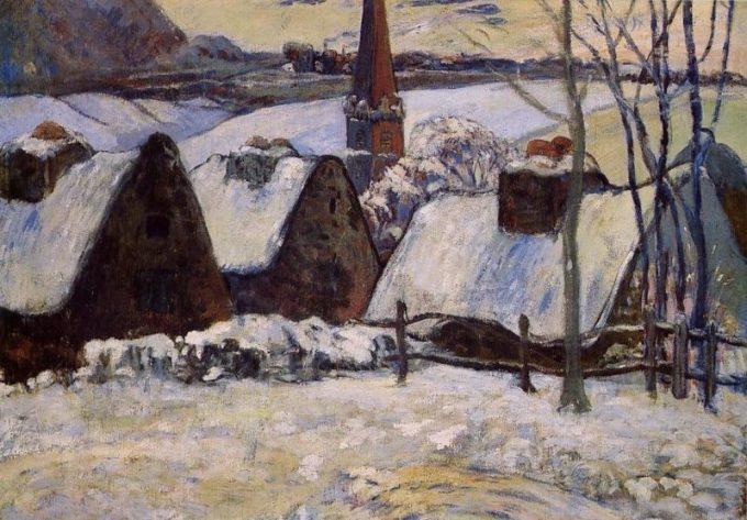 Paul Gauguin, Bretons dorp in de sneeuw, 1903