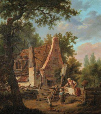 Willem Koekkoek, Bij de wasbeek, 1839-1895