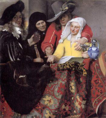 Johannes Vermeer, De koppelaarster, 1656