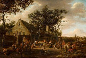 Jan Havickszoon Steen, Dansende boeren bij een herberg, ca. 1650