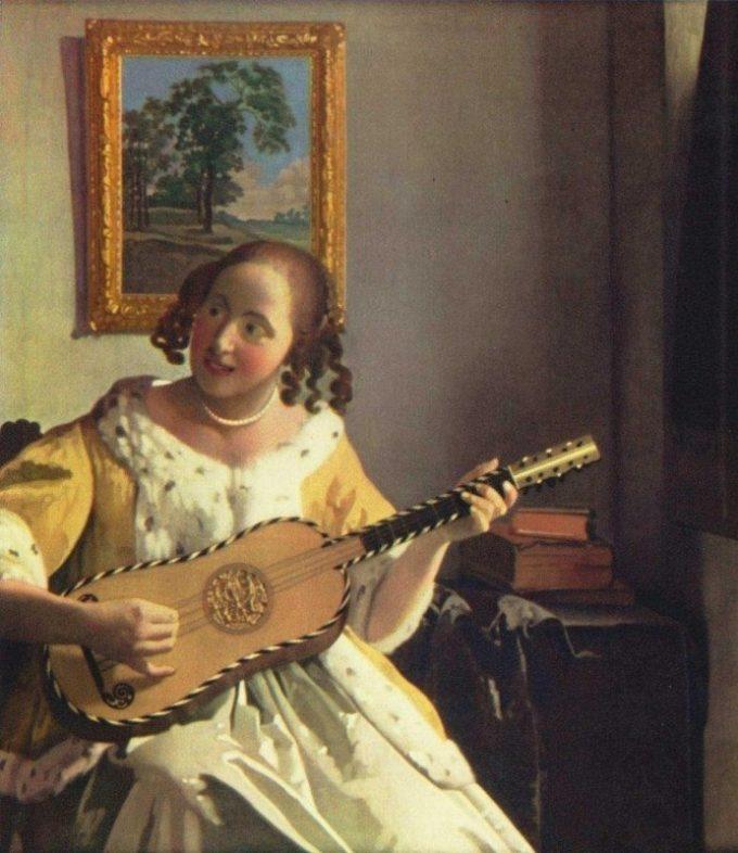 Johannes Vermeer, De gitaarspeelster, ca. 1670-1672
