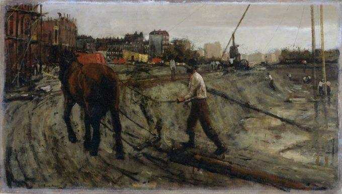 George Hendrik Breitner, Bouwterrein in Amsterdam