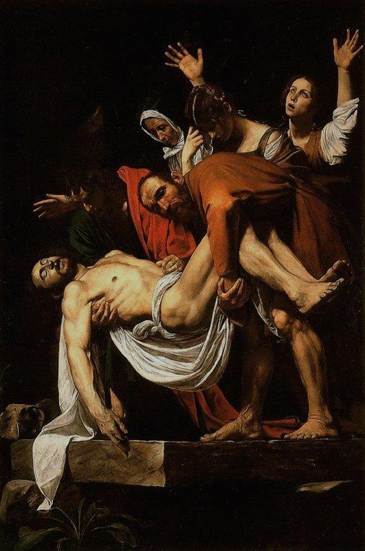 Michelangelo Merisi da Caravaggio, De graflegging van Christus, 1602