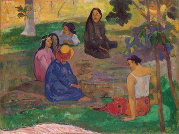 Paul Gauguin, Parau Parau (Het gesprek), 1891