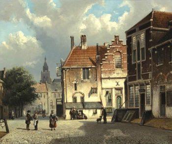 Willem Koekkoek, Stadsplein, 1839-1895