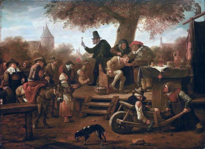 Jan Havickszoon Steen, De kwakzalver, ca 1650-1660