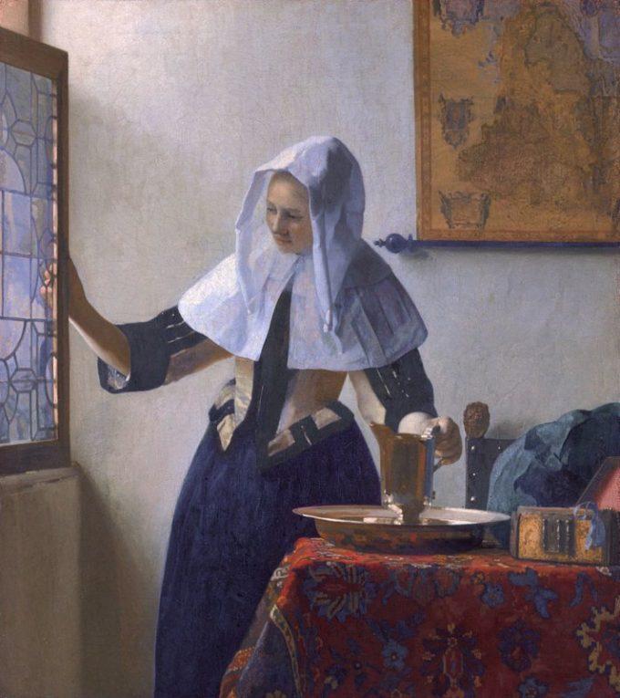 Johannes Vermeer, Jonge vrouw met een waterkan, ca. 1662-1665
