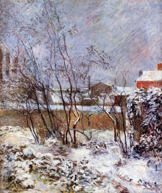 Paul Gauguin, Sneeuw in de Rue Carcel, 1882-1883