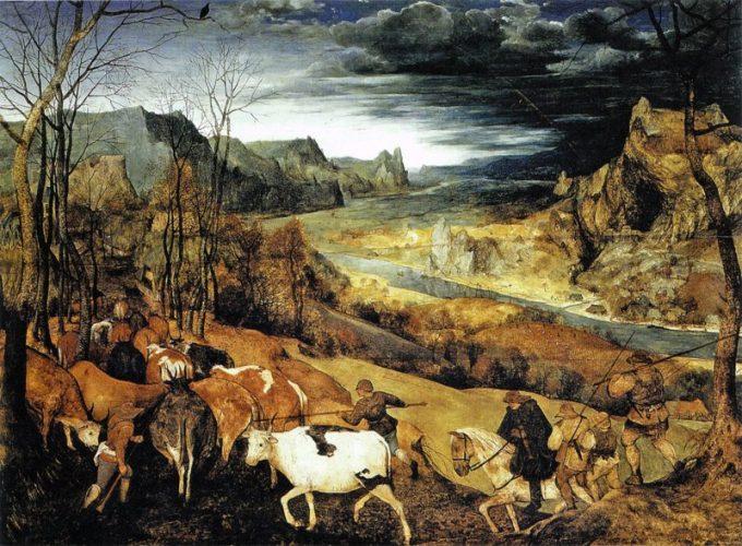 Pieter Bruegel, De terugkeer van de kudde, 1565