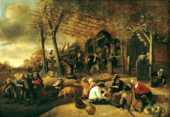 Jan Havickszoon Steen, Boerenkermis, ca. 1668-1670