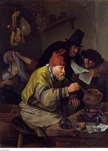 Jan Havickszoon Steen, De dorpsalchemist, 1668
