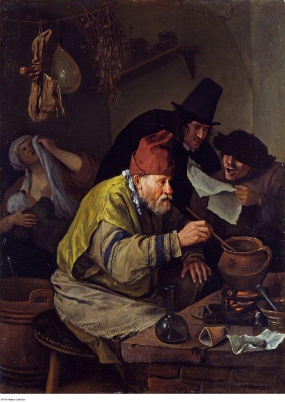 Jan Havickszoon Steen, De dorpsalchemist, 1668