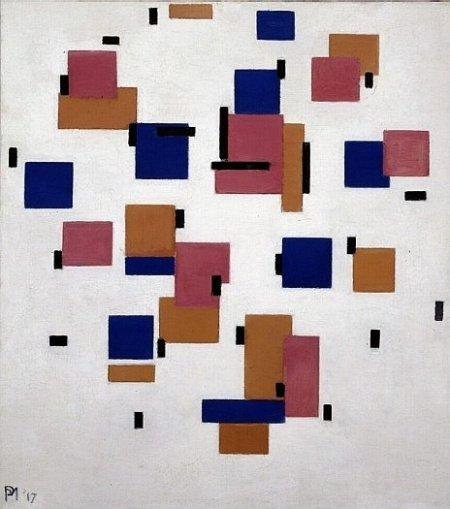 Piet Mondriaan, Compositie in kleur B, 1917