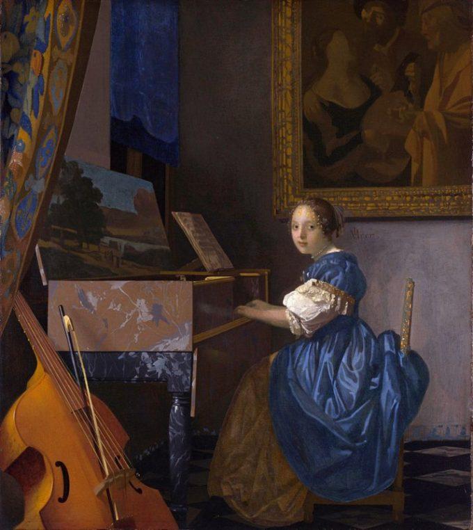 Johannes Vermeer, Zittende klavecimbelspeelster, ca. 1670-1675