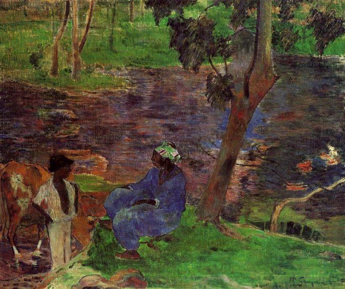 Gauguin, Bij de vijver