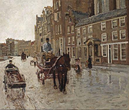 George Hendrik Breitner, Het Rokin met de Nieuwezijdskapel, 1904