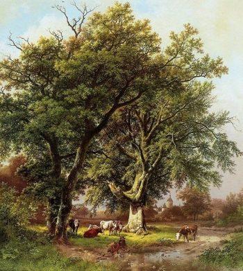 B.C. Koekkoek, De grote beukenboom van kasteel Moyland