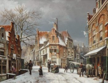 Willem Koekkoek, Winter in Enkhuizen, 1892