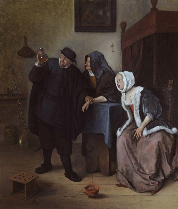 Jan Havickszoon Steen, De piskijker, ca. 1633-1635