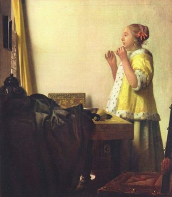 Johannes Vermeer, Vrouw met parelsnoer, ca. 1662-1665