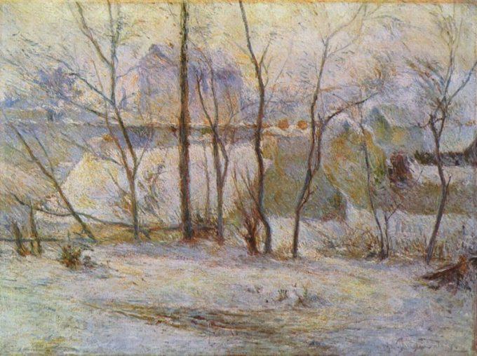 Gauguin, Tuin in de sneeuw
