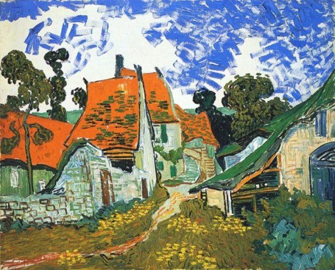 Vincent van Gogh, Straat in Auvers, 1890