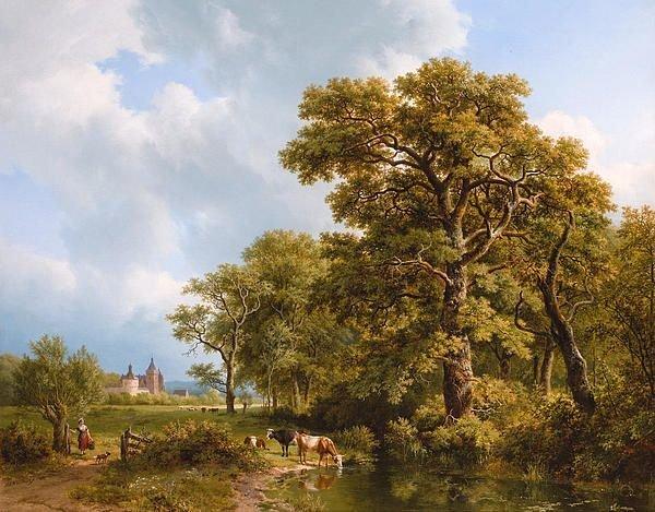 B.C. Koekkoek, Zomerlandschap met koeien