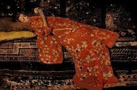 George Hendrik Breitner, Meisje in rode kimono, liggend (Geesje Kwak), ca 1895