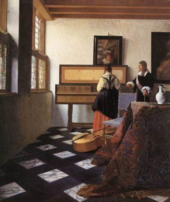 Johannes Vermeer, De muziekles, ca. 1662-1664