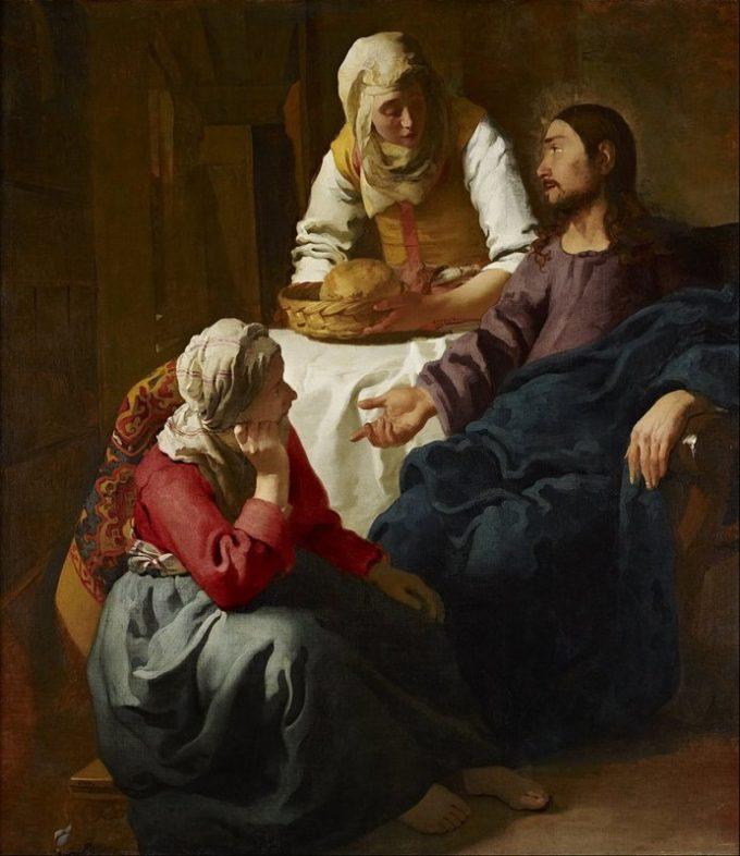 Johannes Vermeer, Christus bij Maria en Martha, ca. 1655